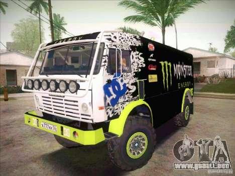 KAMAZ maestro 4911 Monster Energy para GTA San Andreas