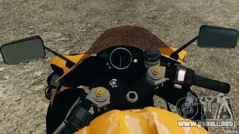 Yamaha YZF-R1 2012 para GTA 4 vista hacia atrás