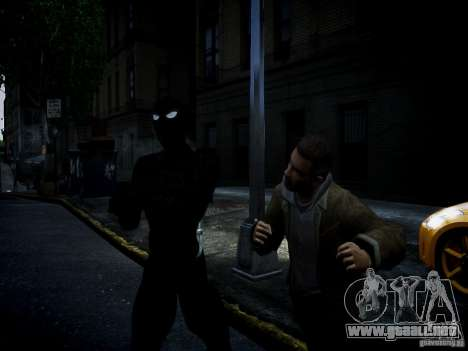 Spider Man Black Suit para GTA 4 tercera pantalla