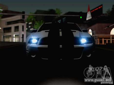 New Car Lights Effect para GTA San Andreas sexta pantalla