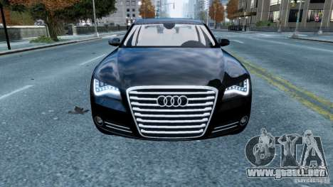 Audi A8 LED 2012 para GTA 4 vista lateral