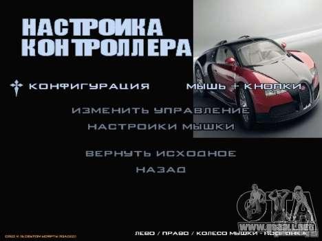 Arrancar la pantalla y menú mundo Mishin v2 para GTA San Andreas décimo de pantalla