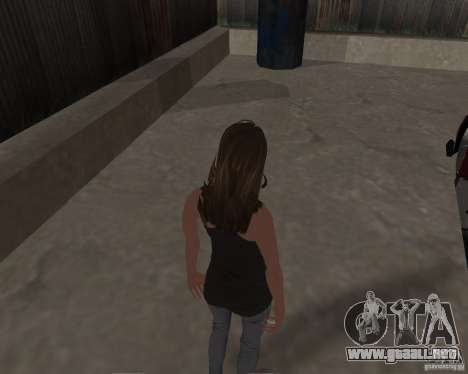 Tony Hawks Emily para GTA San Andreas quinta pantalla