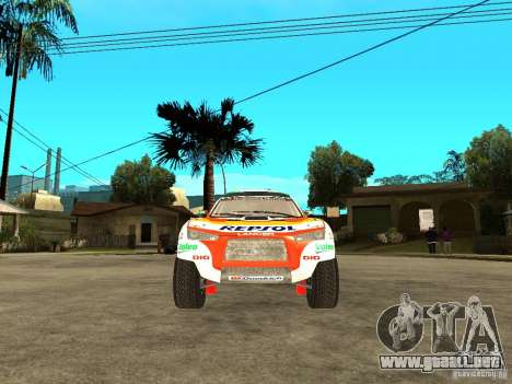 Mitsubishi Racing Lancer from DIRT 2 para la visión correcta GTA San Andreas