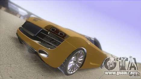 Audi R8 5.2 FSI Spider para la visión correcta GTA San Andreas