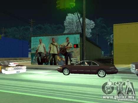 Cartel de GTA V para GTA San Andreas sucesivamente de pantalla