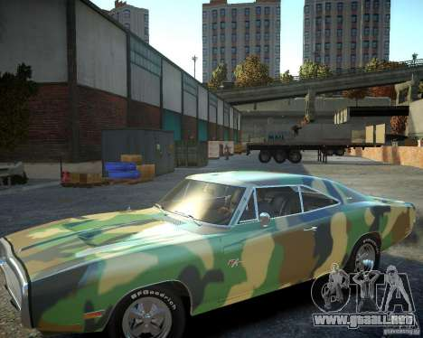 Dodge Charger Magnum 1970 para GTA 4 vista superior