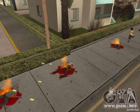 Municiones incendiarias para GTA San Andreas segunda pantalla