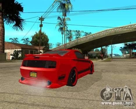 Ford Mustang Red Mist Mobile para GTA San Andreas vista posterior izquierda