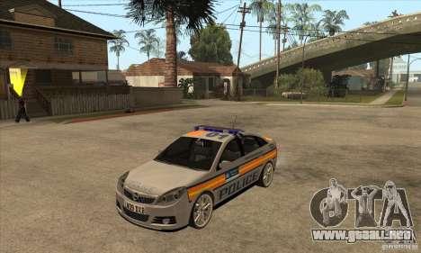 Opel Vectra 2009 Metropolitan Police para GTA San Andreas