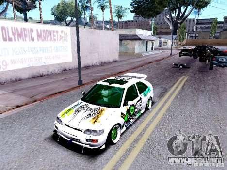 Ford Escort RS 92 Hella para GTA San Andreas vista hacia atrás