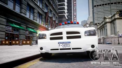 Dodge Charger FBI Police para GTA 4 vista desde abajo