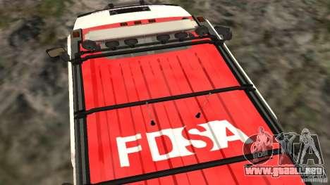 HUMMER H2 Amulance para la visión correcta GTA San Andreas