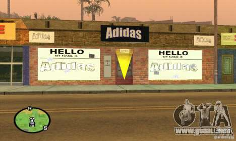 Tienda de ADIDAS para GTA San Andreas