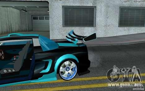 Baby blue Infernus para la vista superior GTA San Andreas