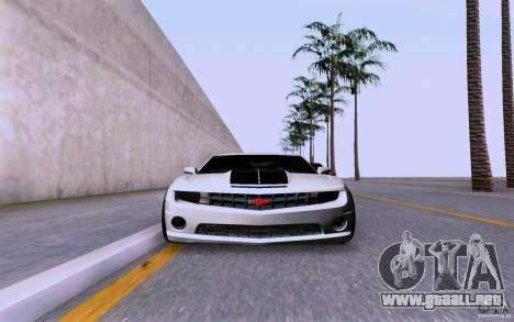 Chevrolet Camaro Super Sport 2012 para GTA San Andreas vista posterior izquierda