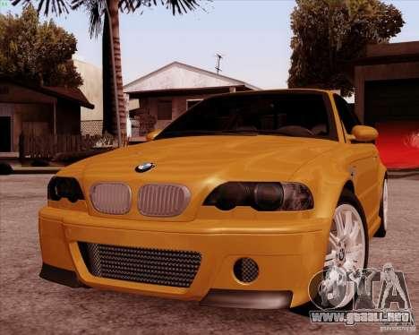 BMW M3 E46 stock para visión interna GTA San Andreas