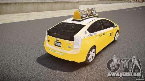 Toyota Prius LCC Taxi 2011 para GTA 4 vista desde abajo