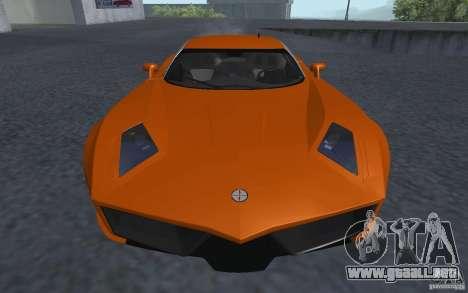 Spada Codatronca TS Concept 2008 para GTA San Andreas vista posterior izquierda