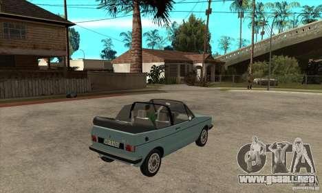 Volkswagen Golf Mk1 Cabrio para la visión correcta GTA San Andreas