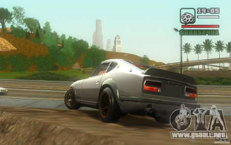 Datsun 240ZG para GTA San Andreas vista hacia atrás