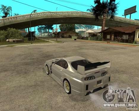 Toyota Supra M4K para GTA San Andreas left
