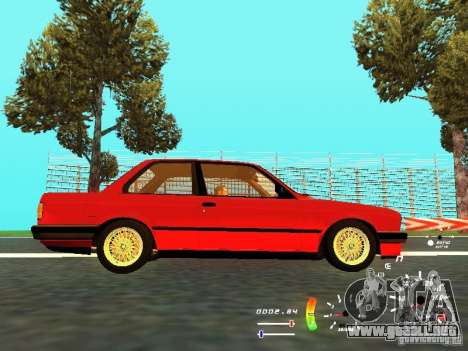 BMW E30 87-91 para GTA San Andreas vista hacia atrás