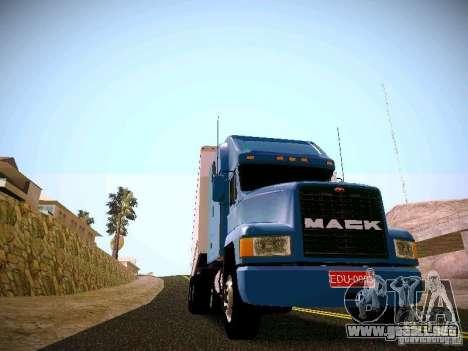 Mack ch 613 para GTA San Andreas vista posterior izquierda