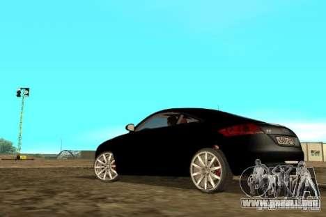 Audi TT 2007 para GTA San Andreas vista posterior izquierda