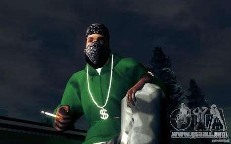 Cigarrillo realista para GTA San Andreas quinta pantalla