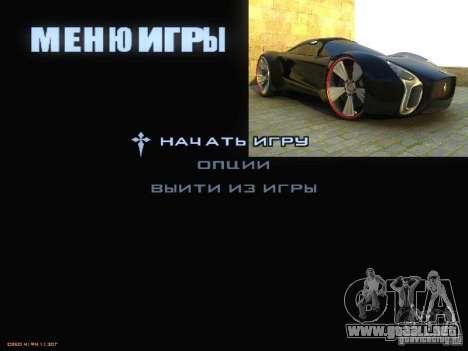 Arrancar la pantalla y menú mundo Mishin v2 para GTA San Andreas sexta pantalla