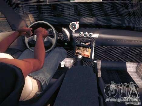 Chevrolet Corvette C6 Z06 Tuning para el motor de GTA San Andreas