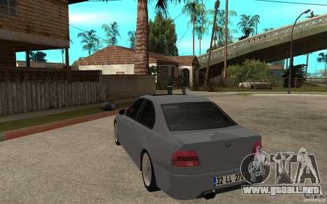 BMW 523i CebeL Tuning para GTA San Andreas vista posterior izquierda