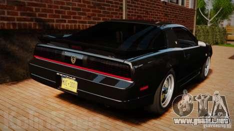 Pontiac Firebird Trans Am GTA 1987 [EPM] para GTA 4 Vista posterior izquierda