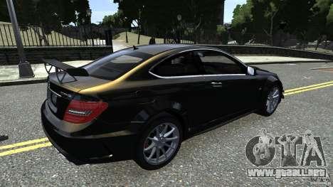 Mercedes Benz C63 AMG Black Series 2012 para GTA 4 vista interior
