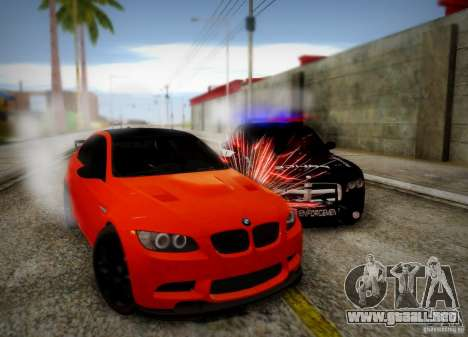 BMW M3 GT-S para la vista superior GTA San Andreas