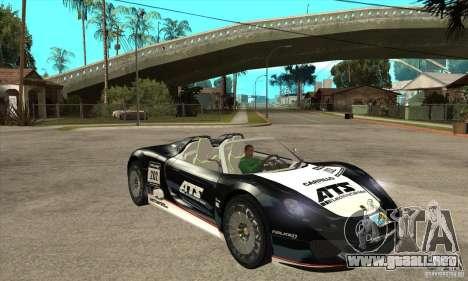 Porsche 918 Spyder para GTA San Andreas vista hacia atrás