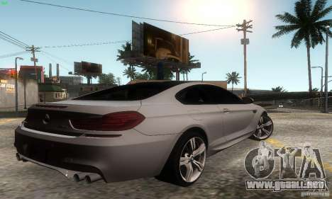 BMW M6 Coupe 2013 para GTA San Andreas left