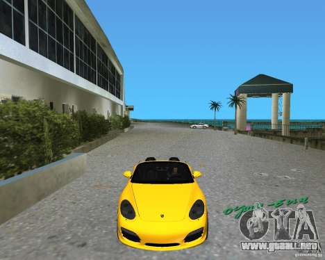 Porsche Boxster 2010 para GTA Vice City left