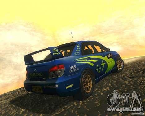 Subaru Impreza WRX STI DIRT 2 para visión interna GTA San Andreas