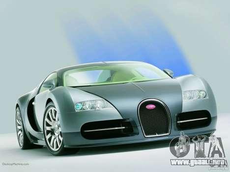 Cargando las pantallas Bugatti Veyron para GTA San Andreas tercera pantalla