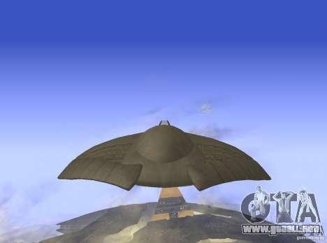 Death Glider para GTA San Andreas vista posterior izquierda