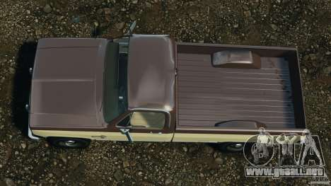 Chevrolet Silverado 1986 para GTA 4 visión correcta
