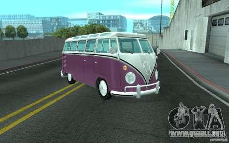 Volkswagen Transporter T1 SAMBAQ CAMPERVAN para la vista superior GTA San Andreas