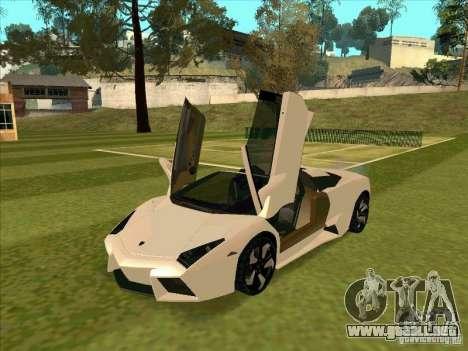 Lamborghini Reventon Convertible para GTA San Andreas left