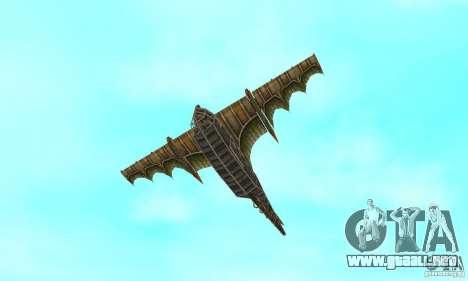 Muy lindo avión de TimeShift para la vista superior GTA San Andreas