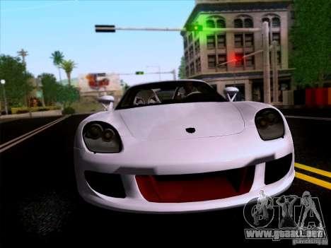 Porsche Carrera GT para GTA San Andreas vista hacia atrás