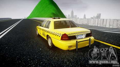 Ford Crown Victoria Raccoon City Taxi para GTA 4 Vista posterior izquierda