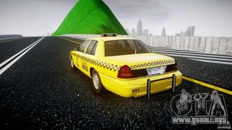 Ford Crown Victoria Raccoon City Taxi para GTA 4 Vista posterior izquierda