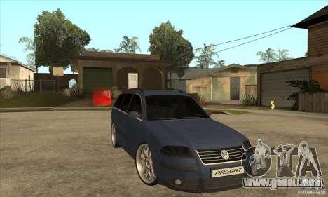 Volkswagen Passat B5.5 2.5TDI 4MOTION para GTA San Andreas vista hacia atrás